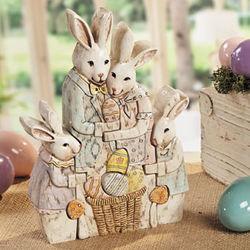 Puzzle Bunny Family Figurine