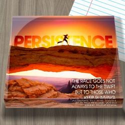 Persistence Runner Infinity Edge Paperweight