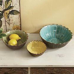 Ceramic Daisy Bowls
