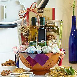 Copper Colander Gourmet Gift Basket
