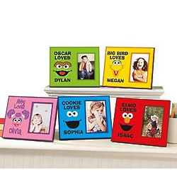 Personalized Sesame Street Big Face Frame