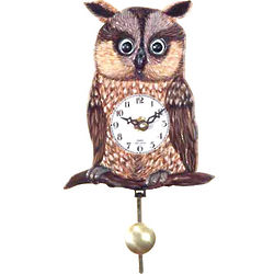 German Pendulum Owl Clock