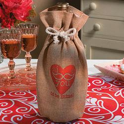 Valentine Mustache Bottle Bag