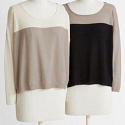 Cashmere Color Block Sweater