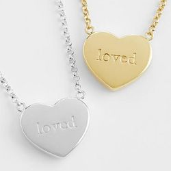 Classic Heart Loved Necklace