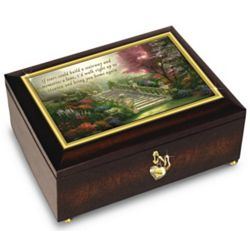 Thomas Kinkade Always In My Heart Personalized Music Box