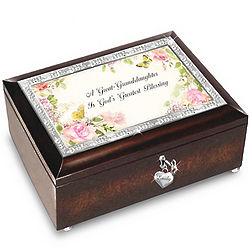 Great-Granddaughter I Love You Personalized Music Box