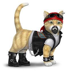 Biker Cat Figurine