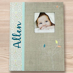 Personalized Baby Memory Book with Tree Design