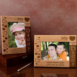 Personalized My Heart Belongs To Wooden Picture Frame