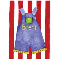 Personalized Overalls Canvas Print