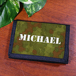 Custom Printed Army Velcro Wallet