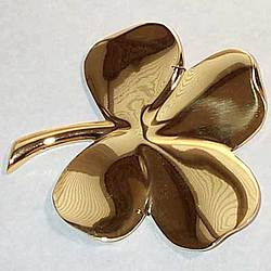 24K Gold Plated Brass Four Leaf Clover