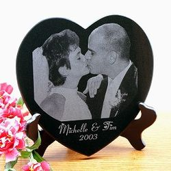 8 Inch Heart Shaped Marble Portrait