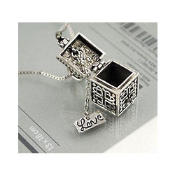 Retro Love Box Necklace
