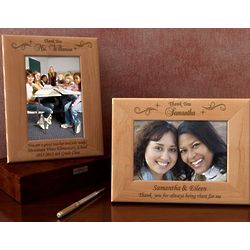 Personalized Thank You Wooden Picture Frame