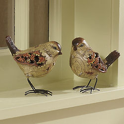 Set of 2 Autumn Chickadees