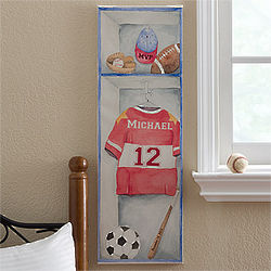 Boy's Personalized Sports Jersey Canvas Artwork