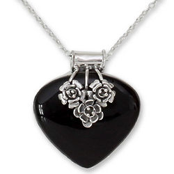 Love Declared Onyx Heart Necklace