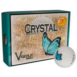Personalized Teal Butterfly Golf Balls