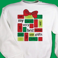 My Very Best Gifts Holiday Sweatshirt