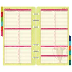Portable 2-Per-Page-Week Planner Refill