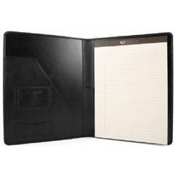 Black Nappa Leather Letter Pad