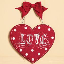 Love Valentine Door Sign
