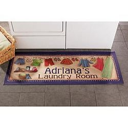 Personalized Laundry Room Runner Doormat