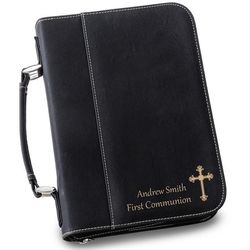 Large Personalized Black Bible Case