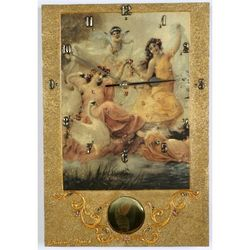 Swans and Angels Pendulum Clock