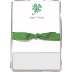 Lucky Clover Personalized Memo Set