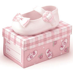 Ceramic Baby Girl Shoe