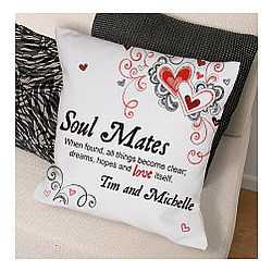 Personalized Soul Mates Throw Pillow
