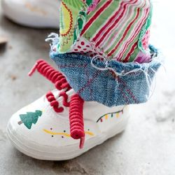 Handpainted Trees Christmas Shoes