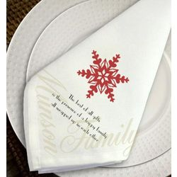 Personalized Snowflake Napkin Set