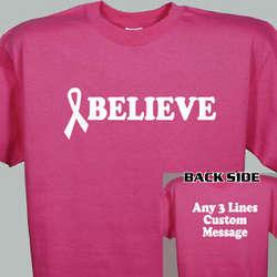 Believe Awareness Ribbon T-Shirt