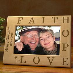 Personalized Faith in You Wooden Sympathy Picture Frame