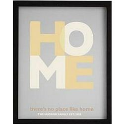 There's No Place Like Home Framed Art with Black Frame