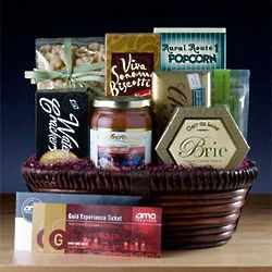 Dinner and a Movie Gift Basket