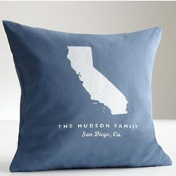 States and Family Name Pillow Cover
