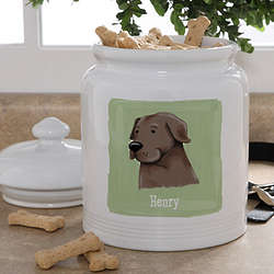 Personalized Dog Breeds Treat Jar