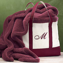 Personalized Tote and Throw