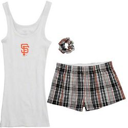 San Francisco Giants Women's Imperial Short and Tank Roll-Up Set