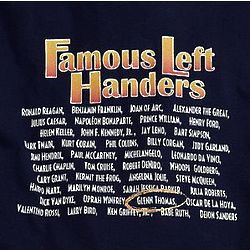 Personalized Famous Left Handers T-Shirt