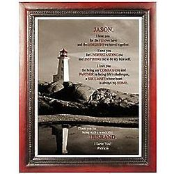 Personalized Husband or Wife Framed Print