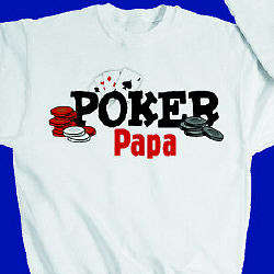 Personalized Poker Player Sweatshirt