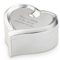 Ribbon Heart Jewelry Box