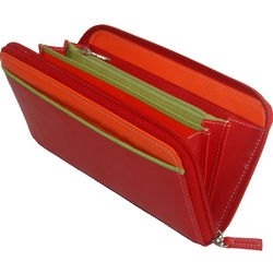Red Zip Clutch Wallet
