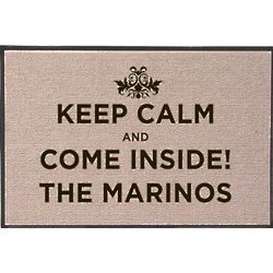 Keep Calm and Come Inside Personalized Doormat